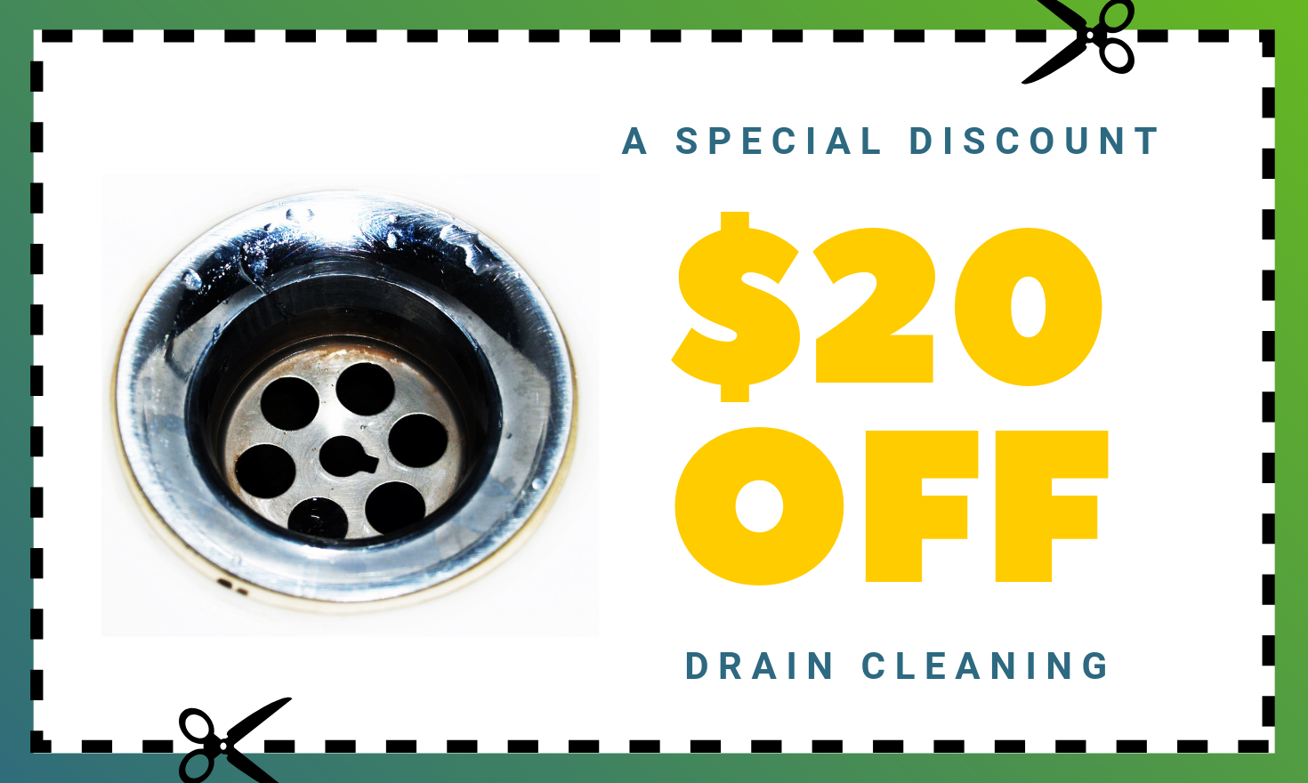 $20 Off Your Drain Cleaning