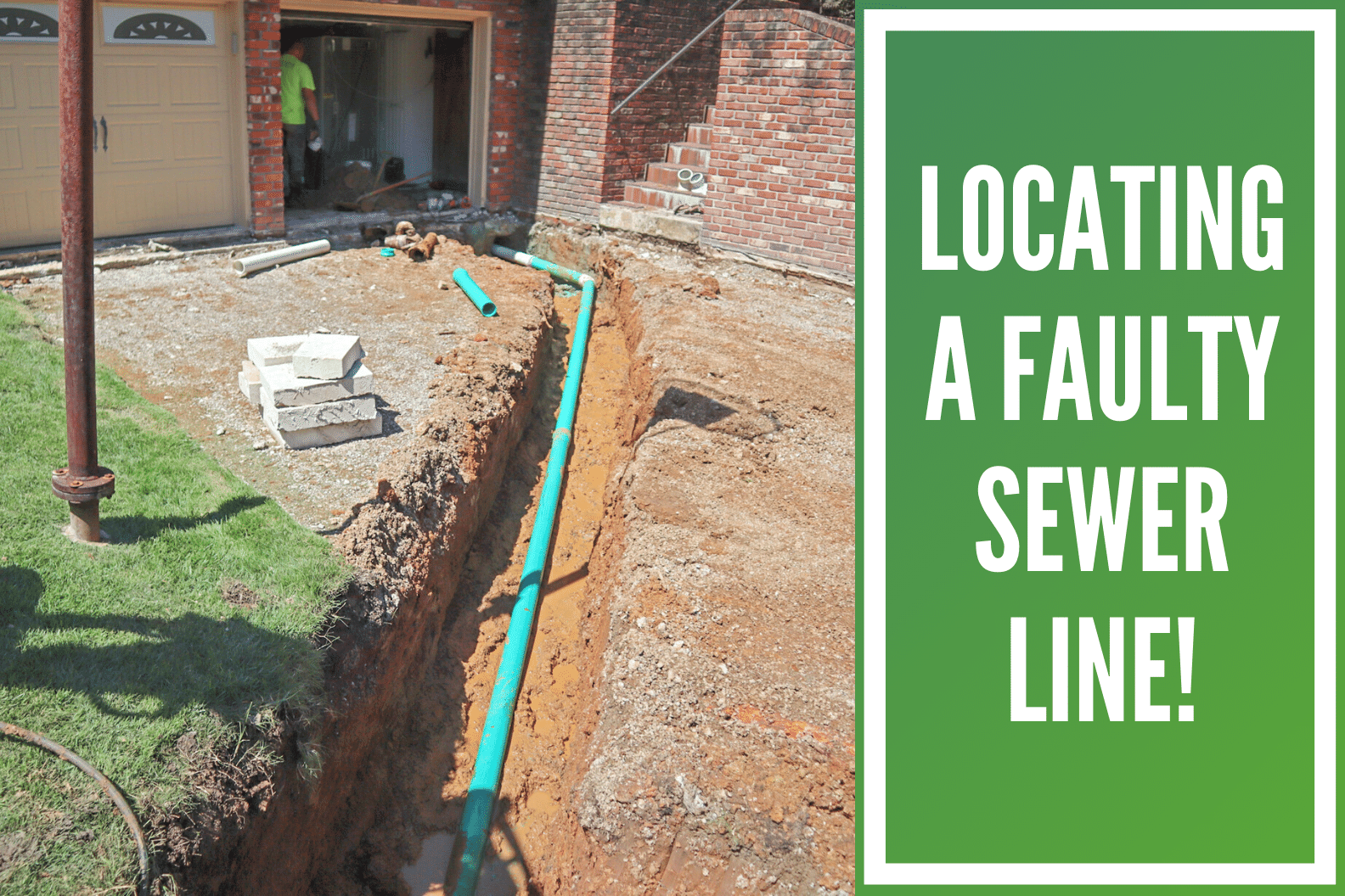 Sewer Line Replacement at Gladstone, MO House